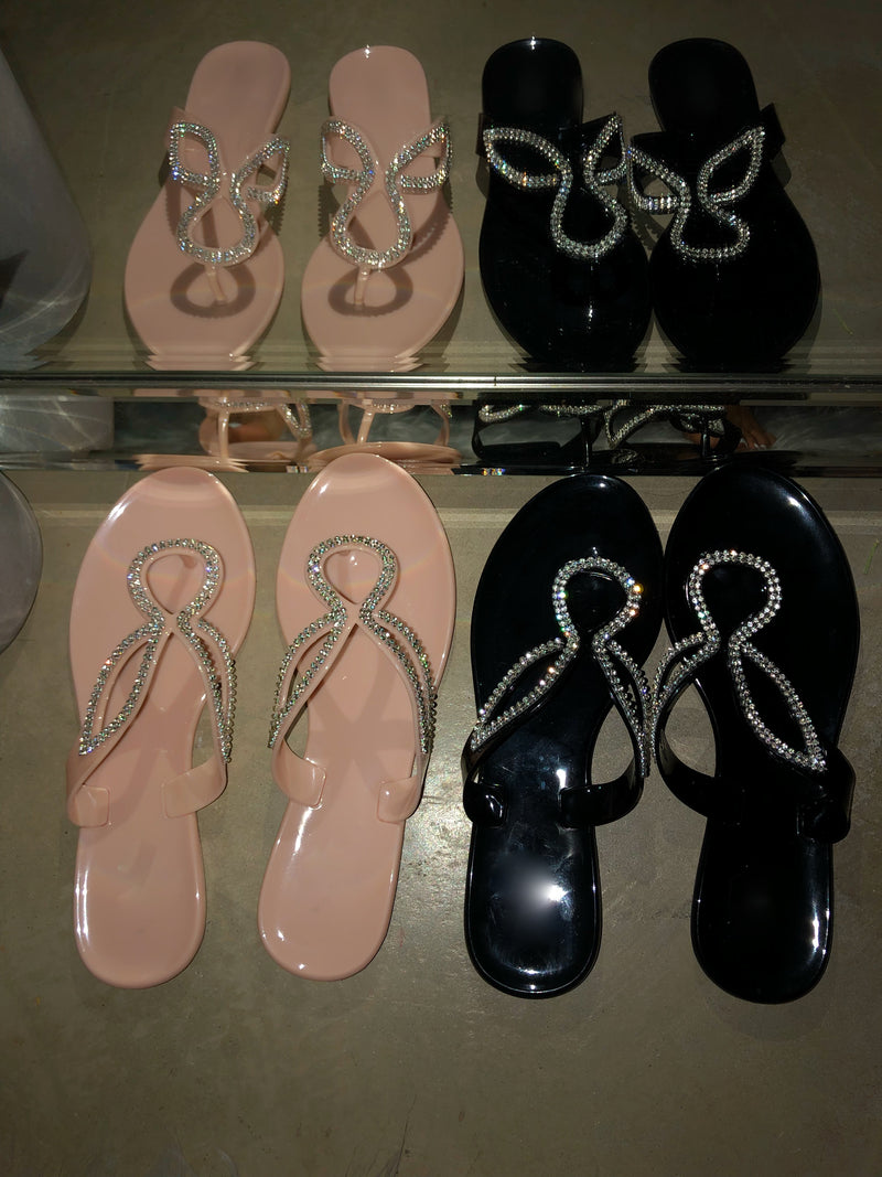 Fiona Thong Sandals - Black