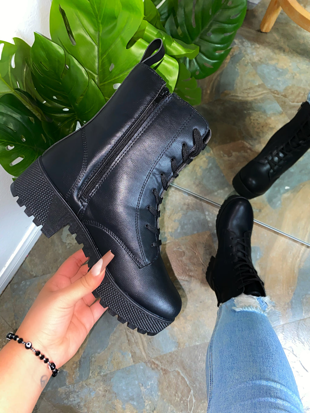 Autumn Boots - Black PU