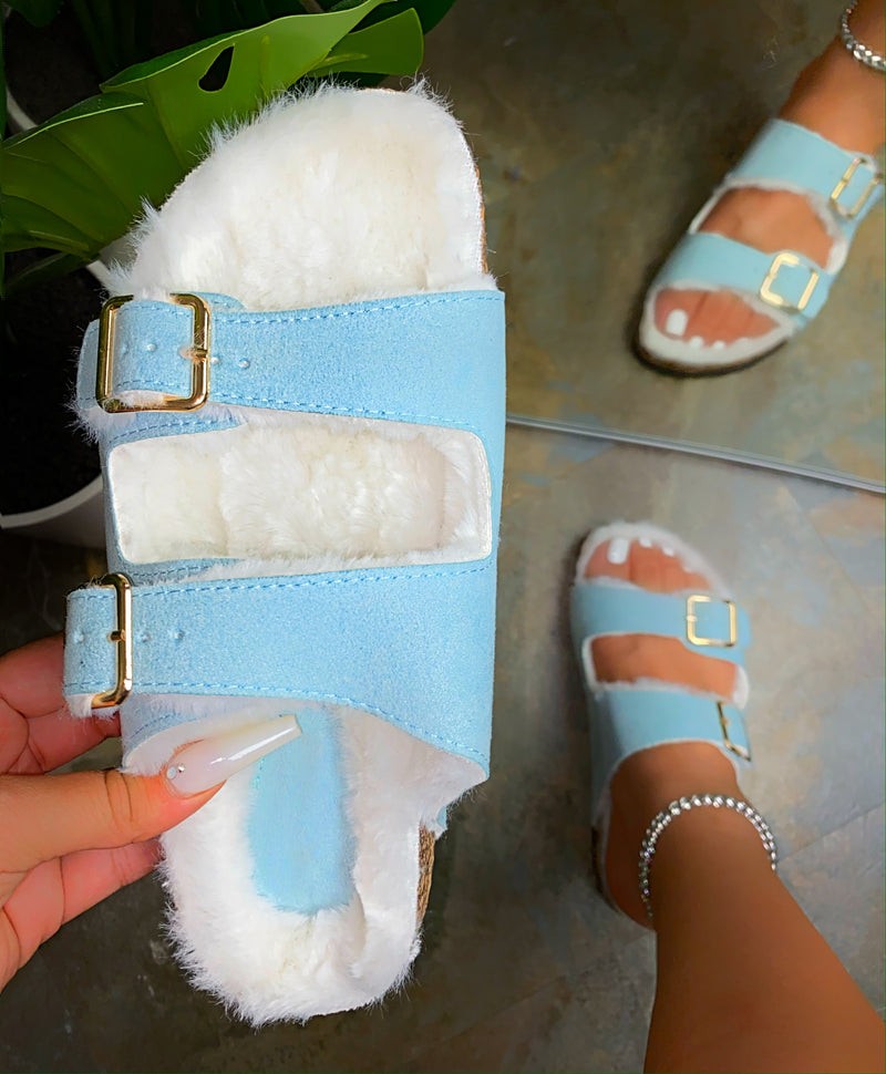 Lia Slippers- Sky Blue