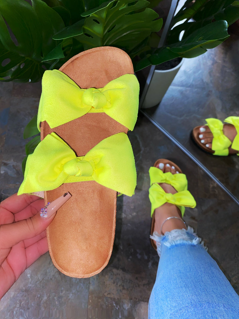 Minny Sandals -Lime Green