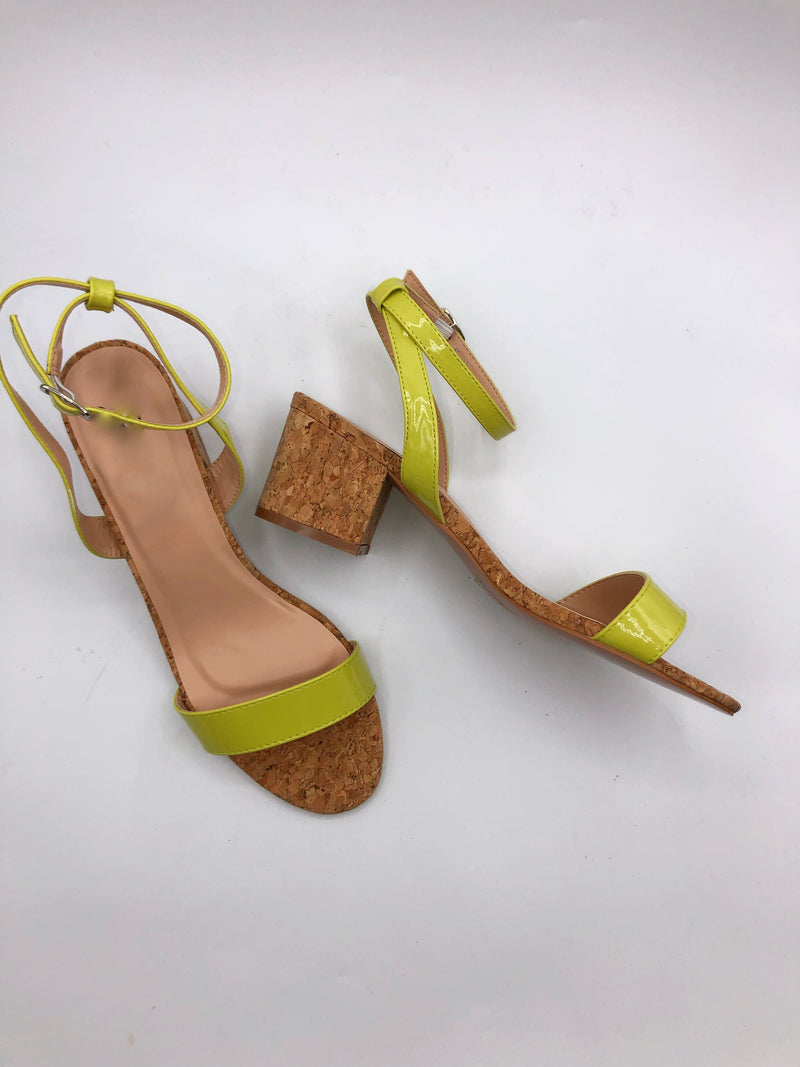 Tammie Cork Sandals - Lime