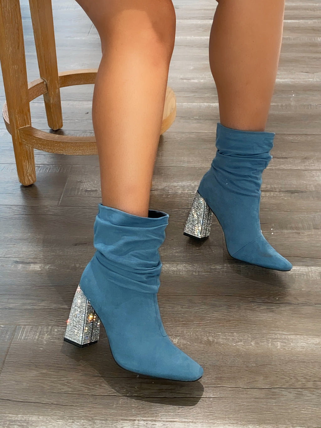 Bailey Booties- Denim Blue