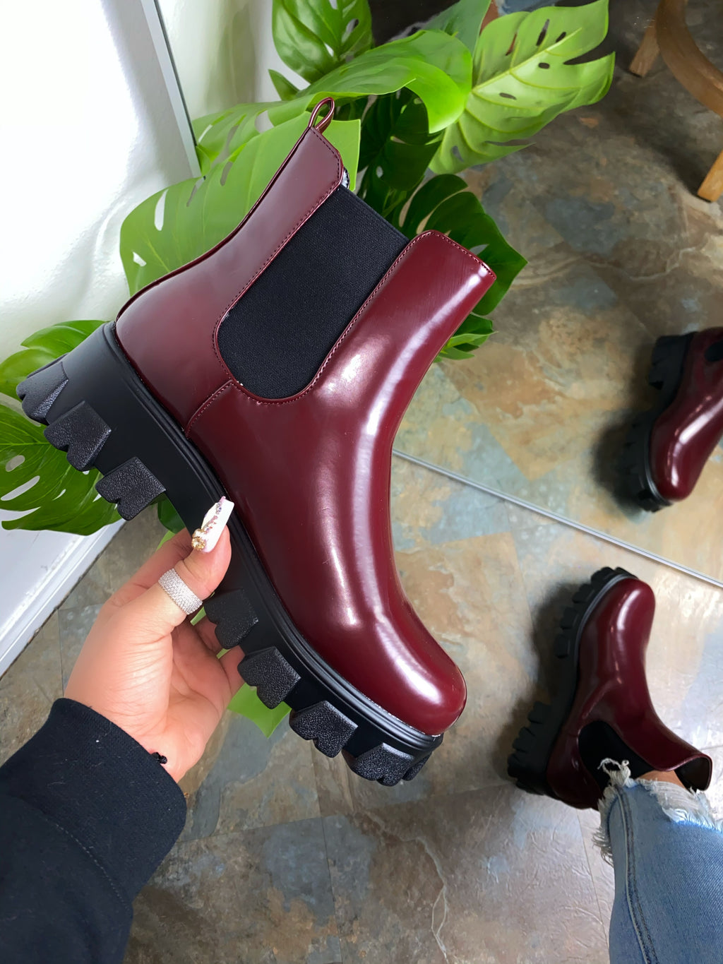 Harlow Booties- Wine