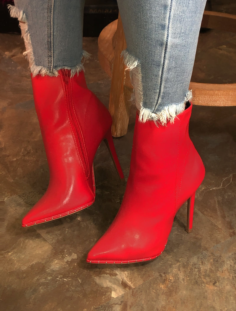 True Red Booties