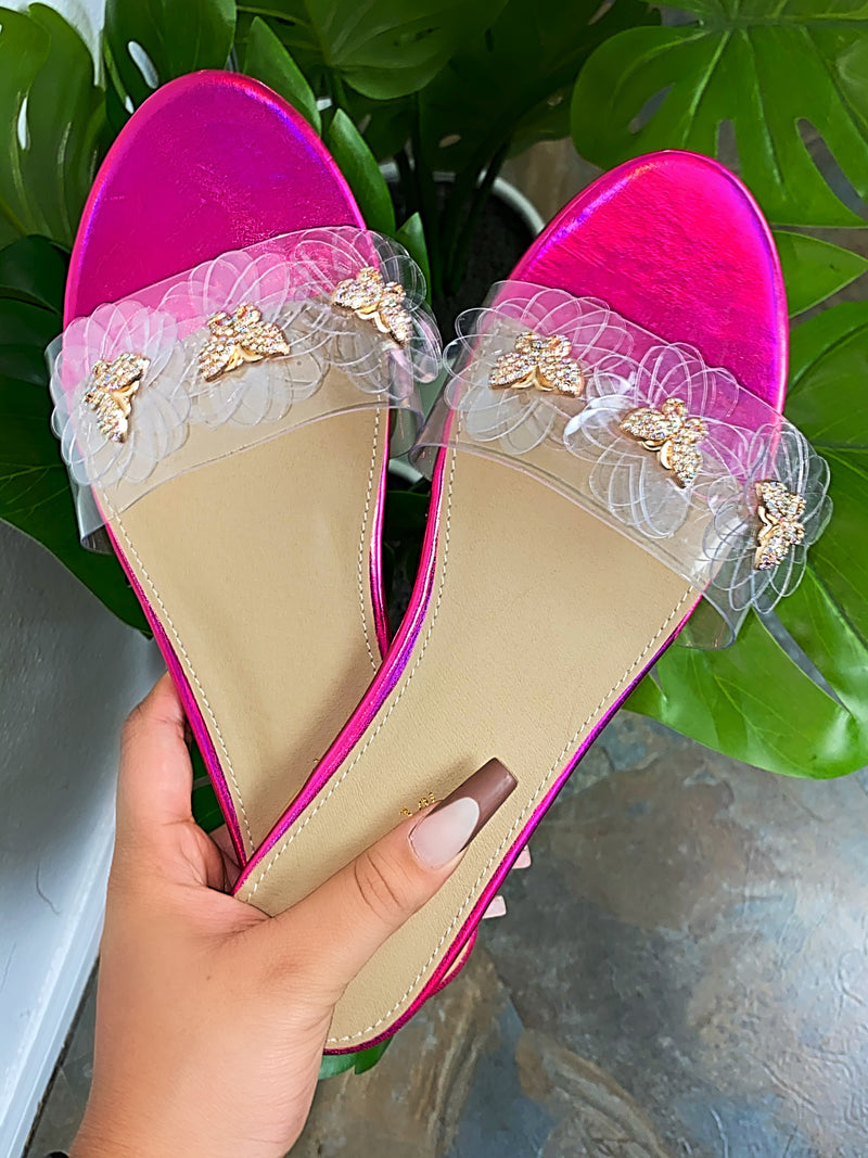Vicky Butterfly Sandals - Pink