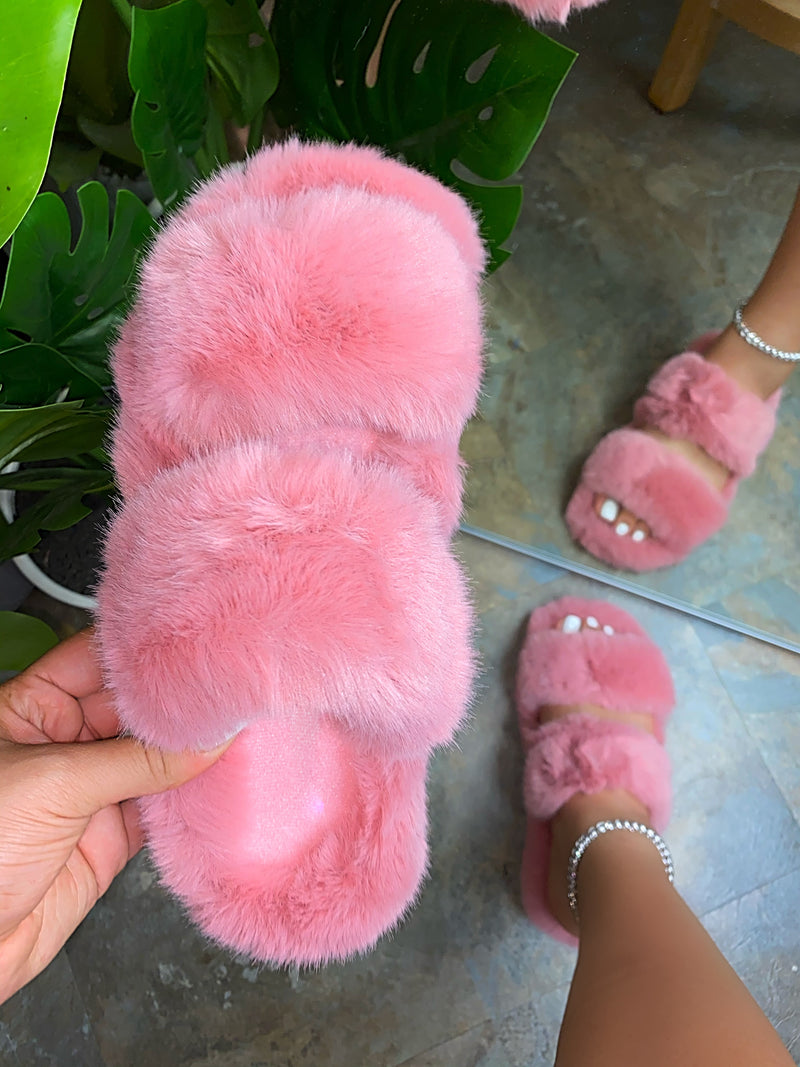Aurora Double Slippers - Pink