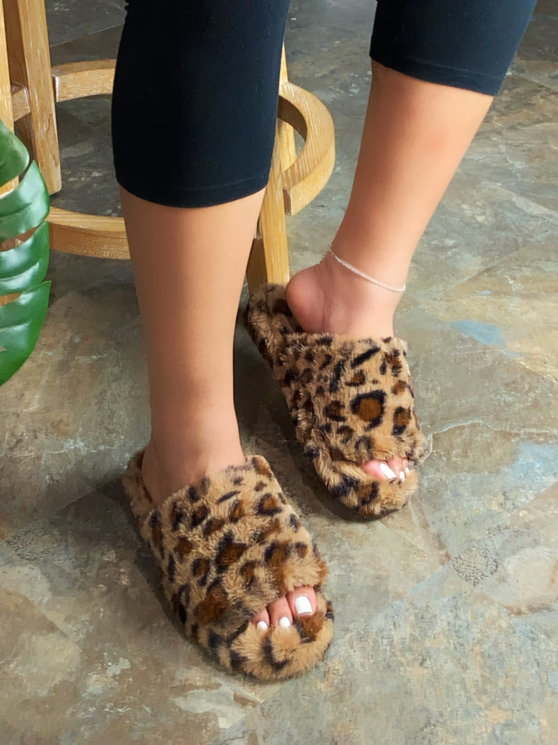 Lainey Slippers- Leopard