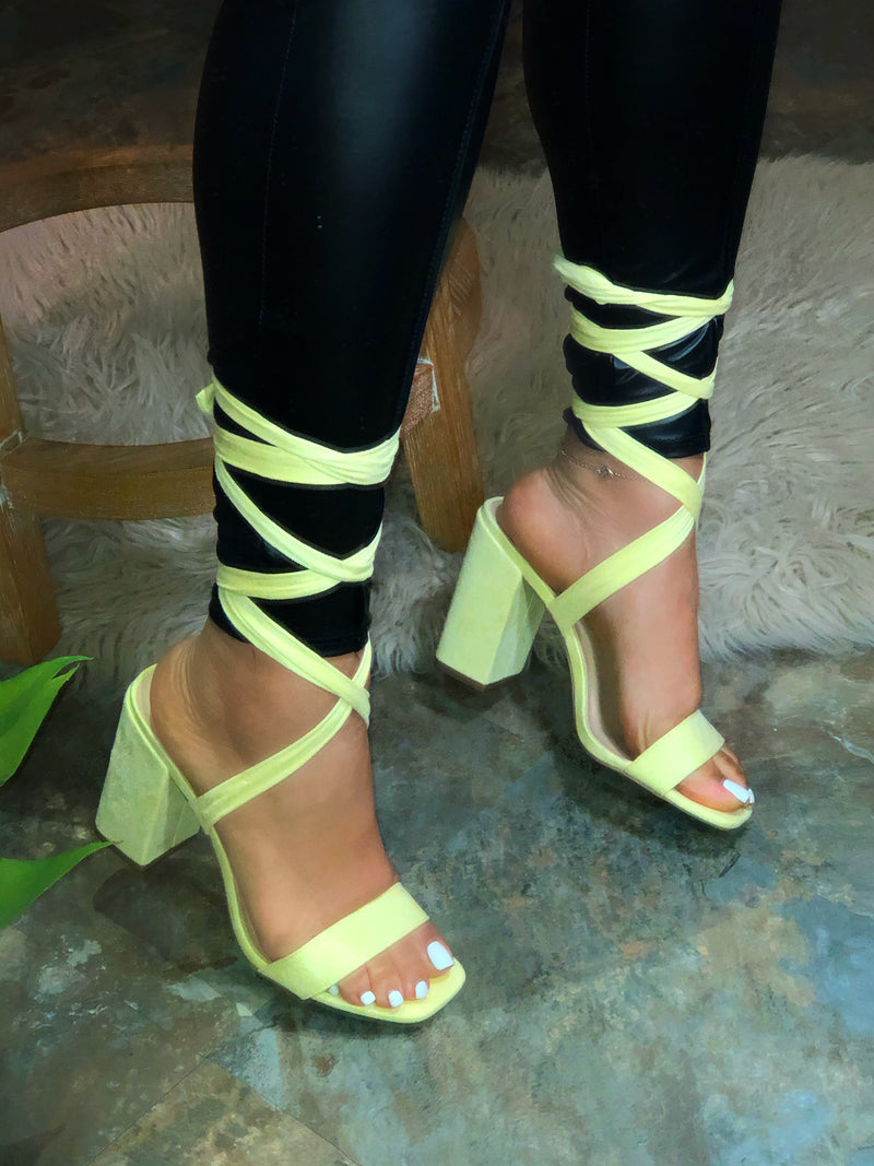 Julissa Chunky Heels - Light Yellow