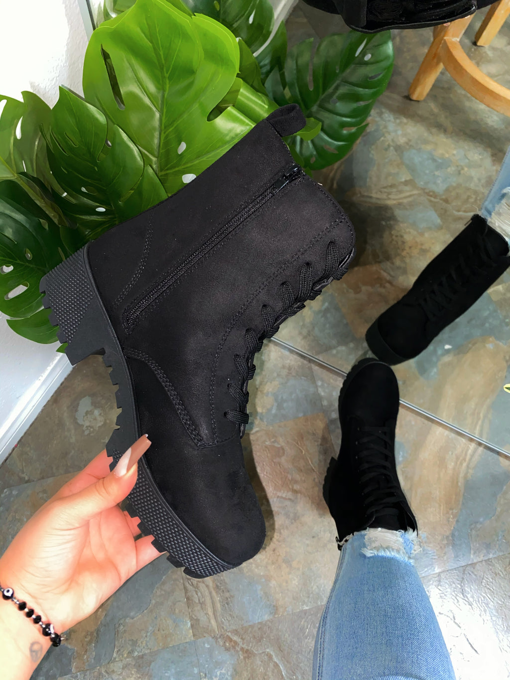 Autumn Boots - Black Suede
