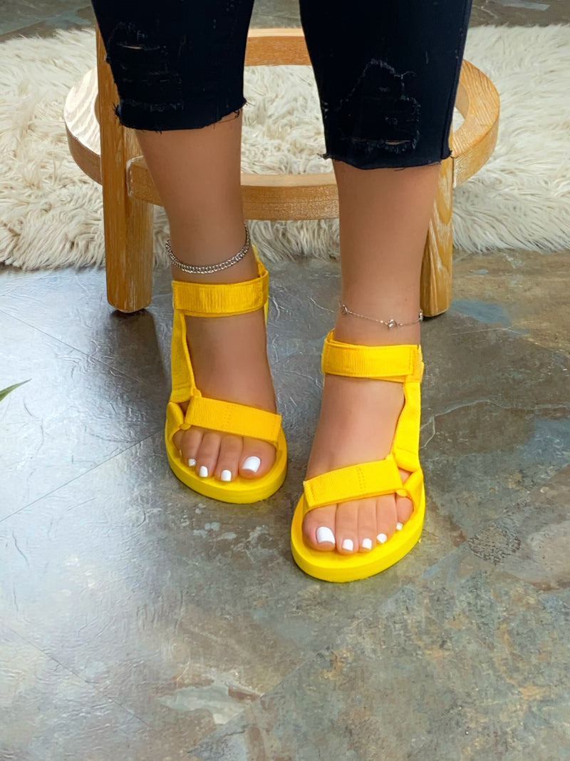 Reese Velcro Sandals - Yellow