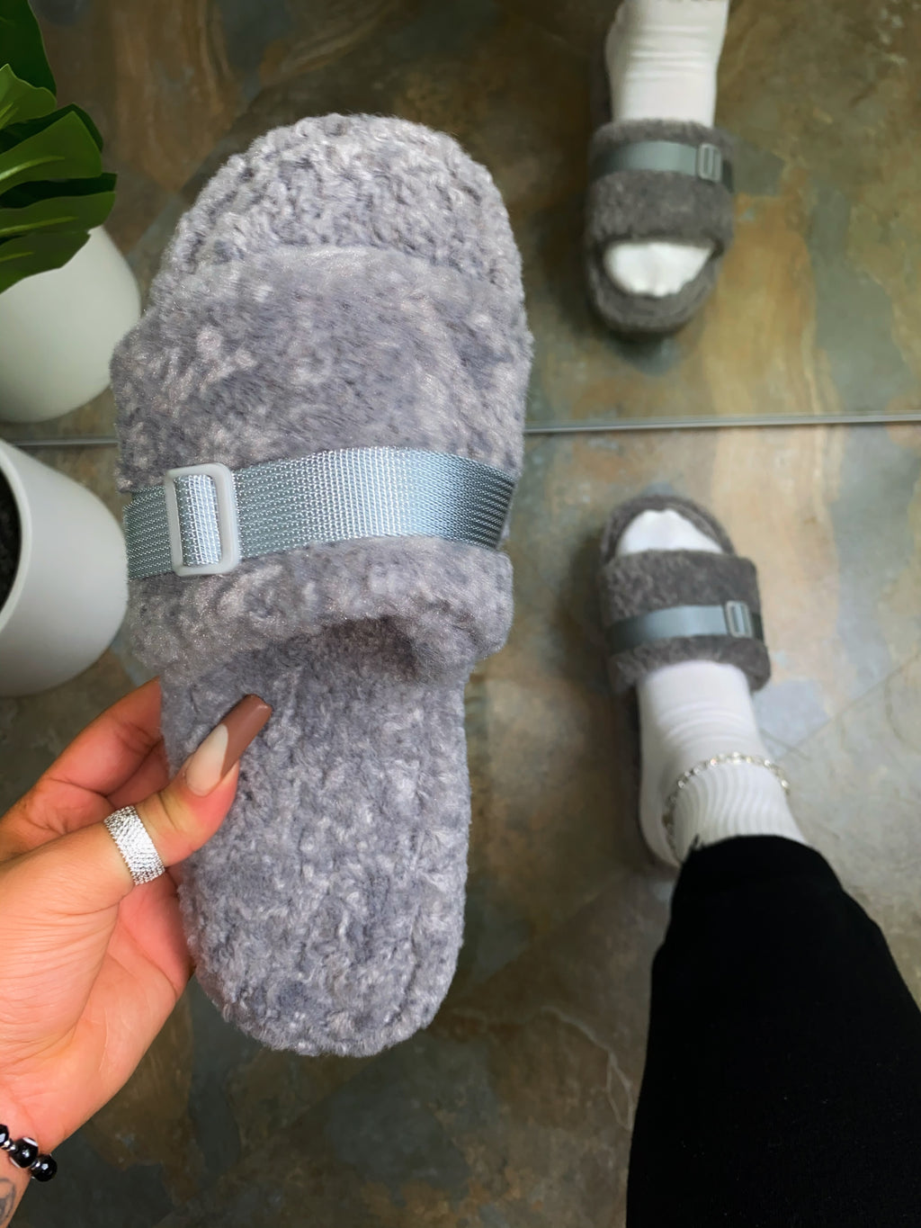 Xander Slippers-Grey