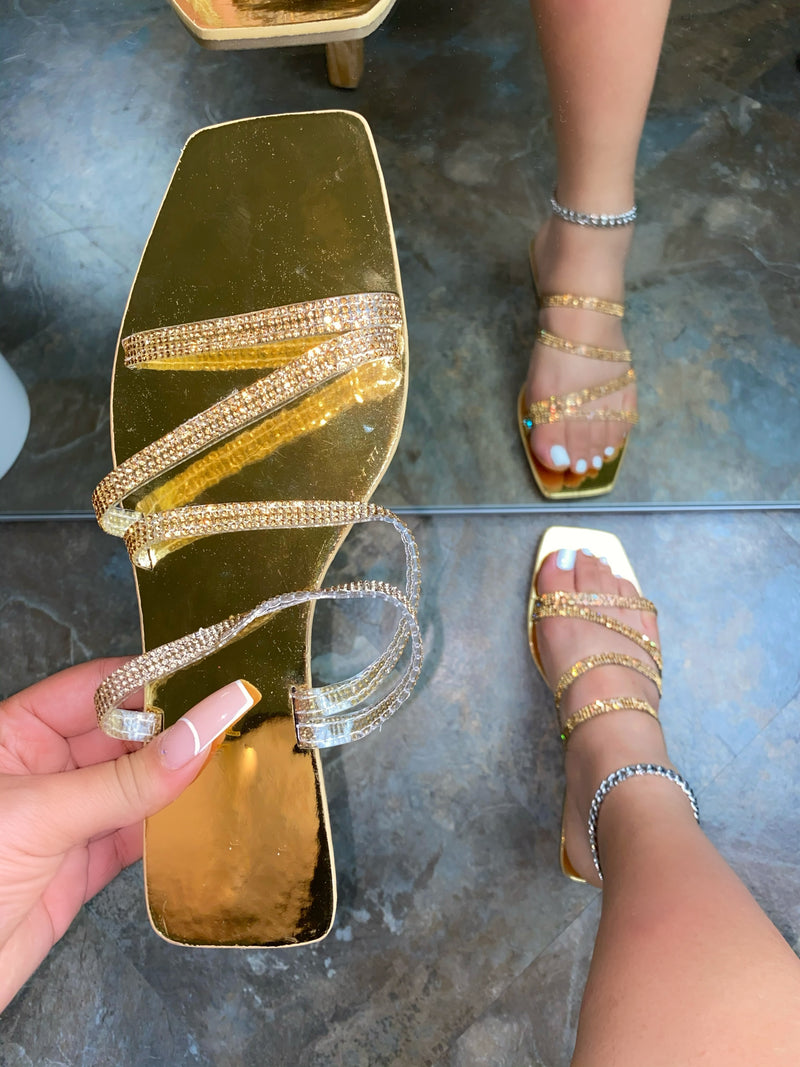 Ensley Sandals - Gold