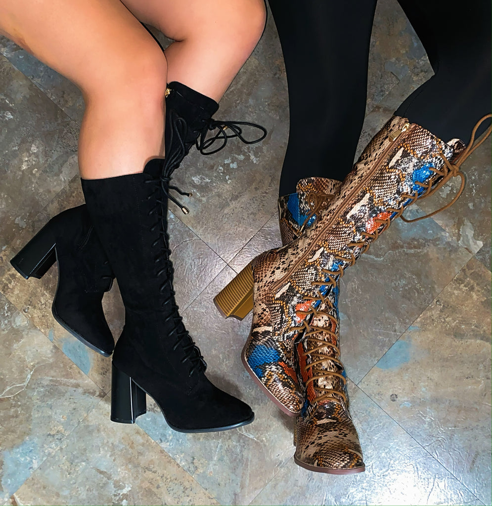Jade Booties- Multi Snake