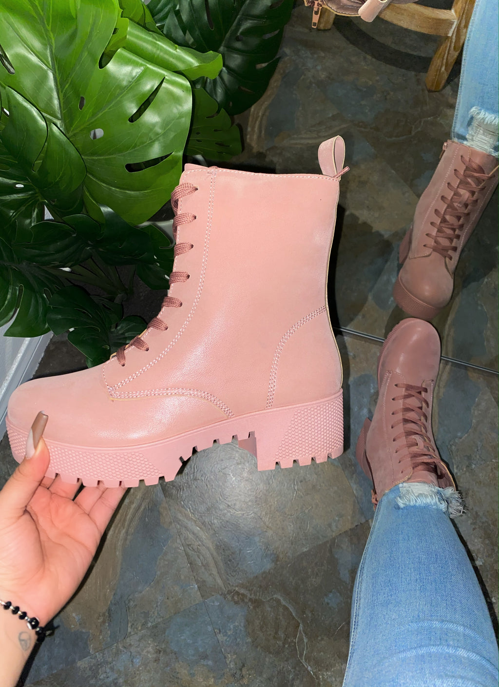 Autumn Boots - Blush