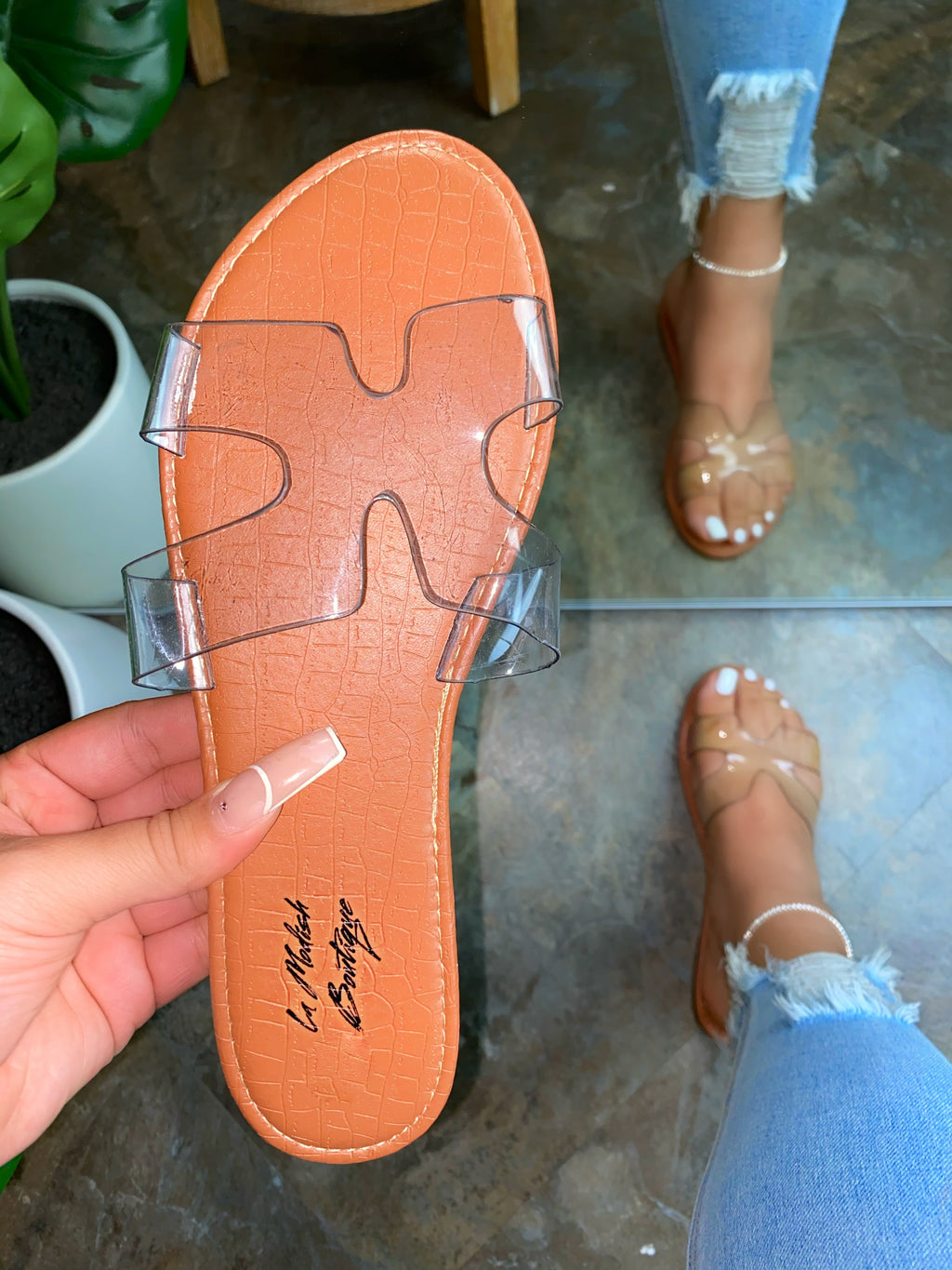 Madelyns Clear Strap Sandals