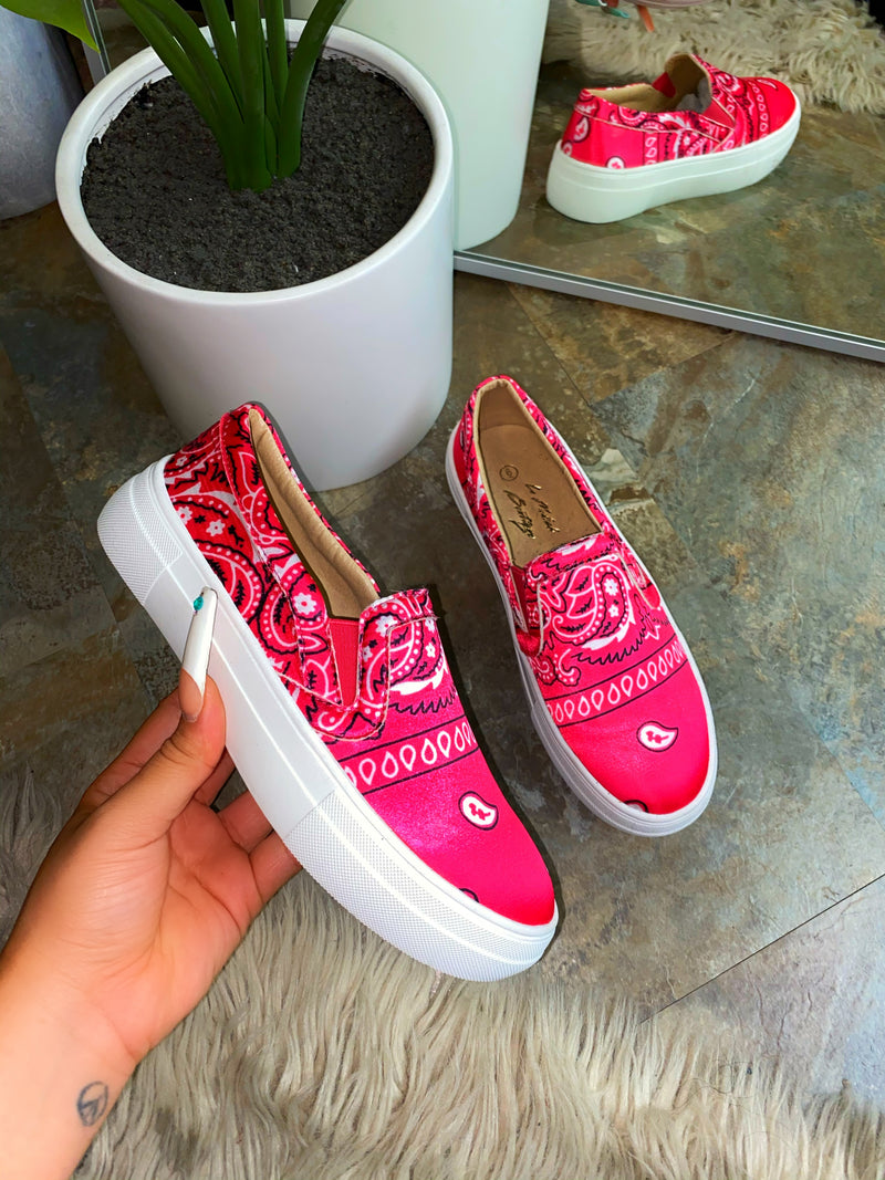 Carter Sneakers - Hot Pink EXCLUSIVE
