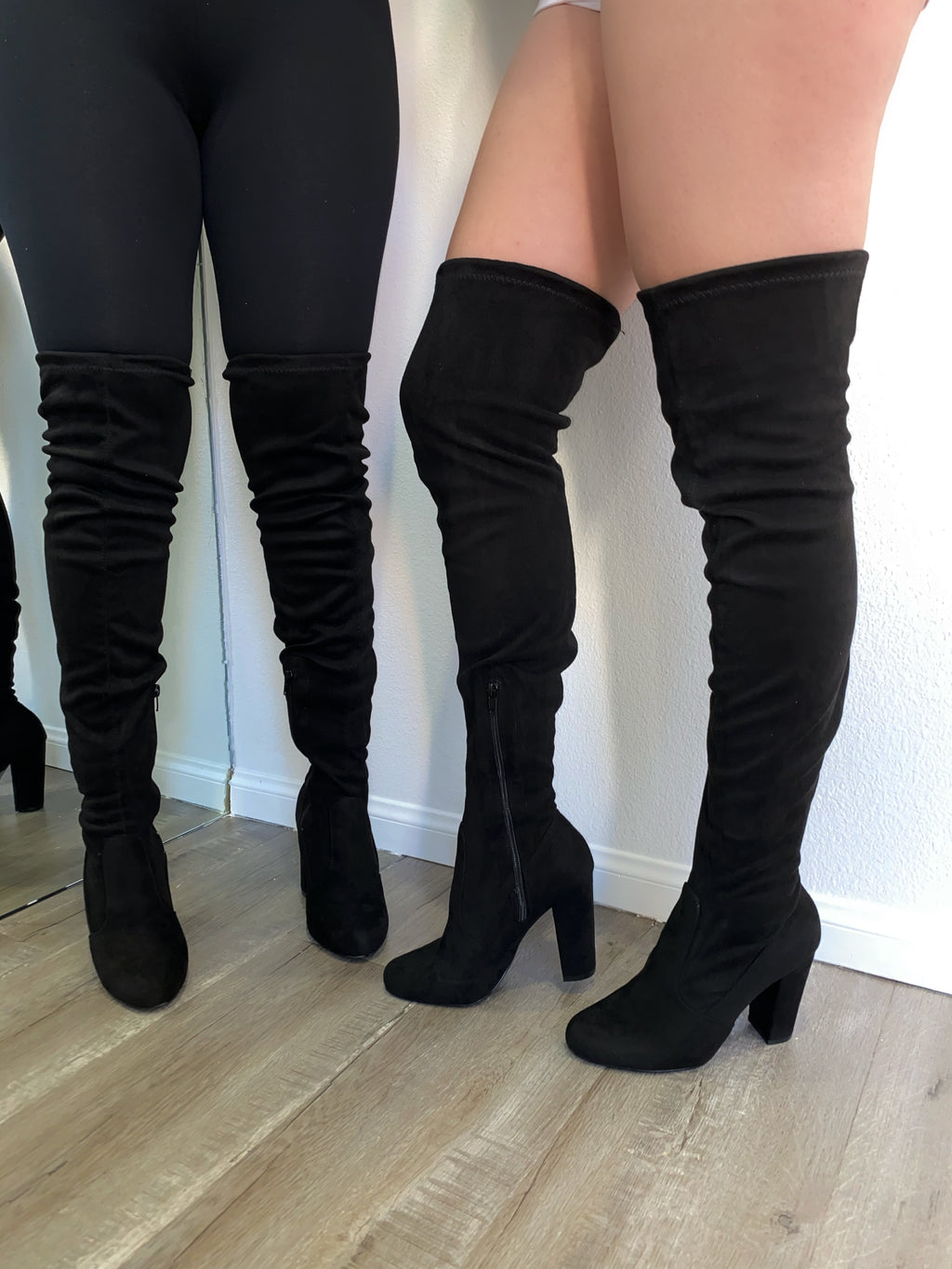 Jaxon Thigh High Boots- Black
