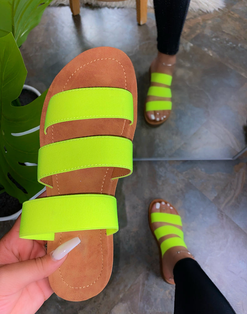 Natali Sandals - Lime Green