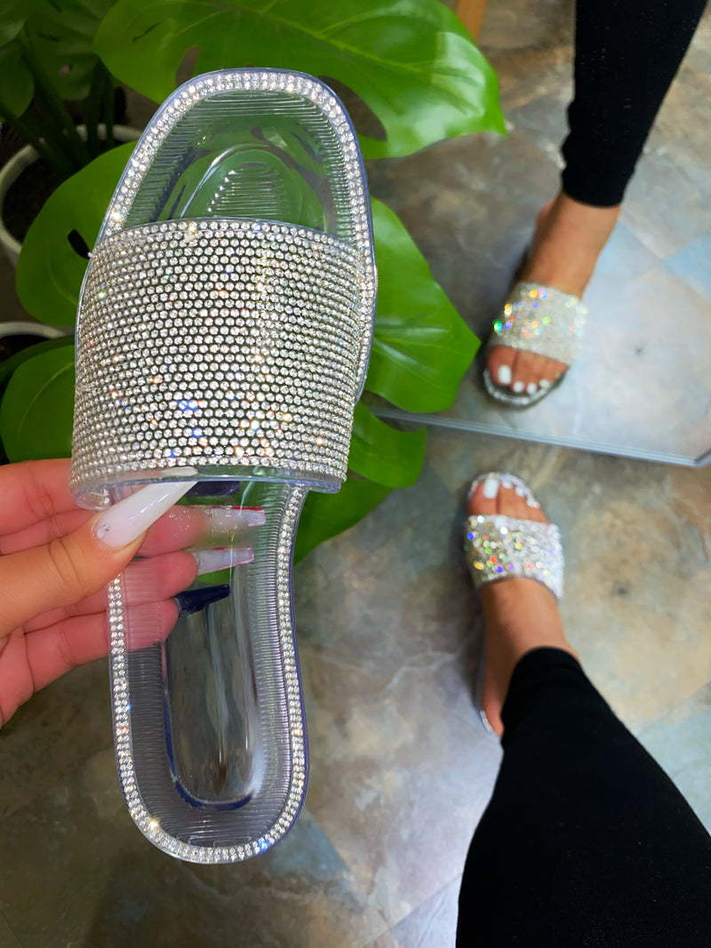 Amaya Jelly Sandals-Clear
