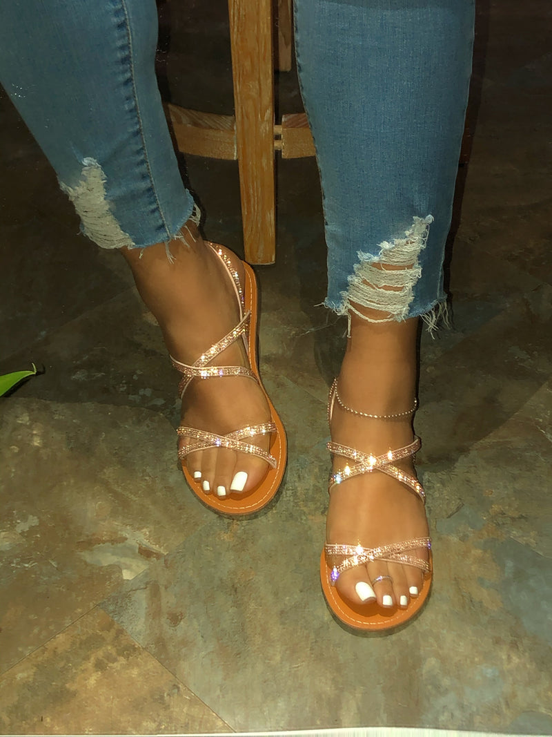 Mindy Sandals - Rose Gold