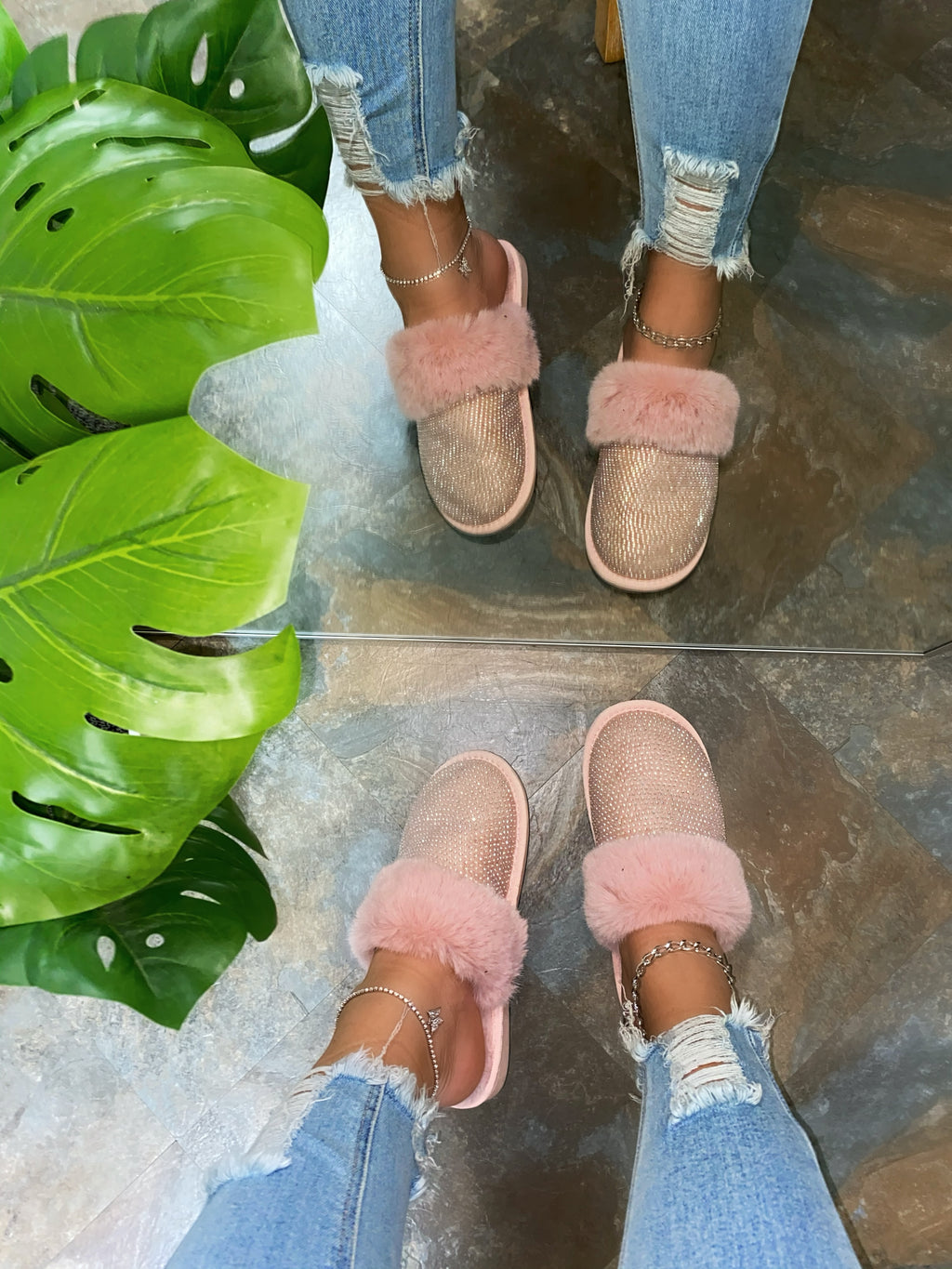 Baby Doll Slippers - Baby Pink