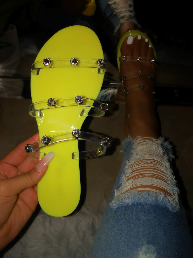 Piper Sandals - Lime Yellow