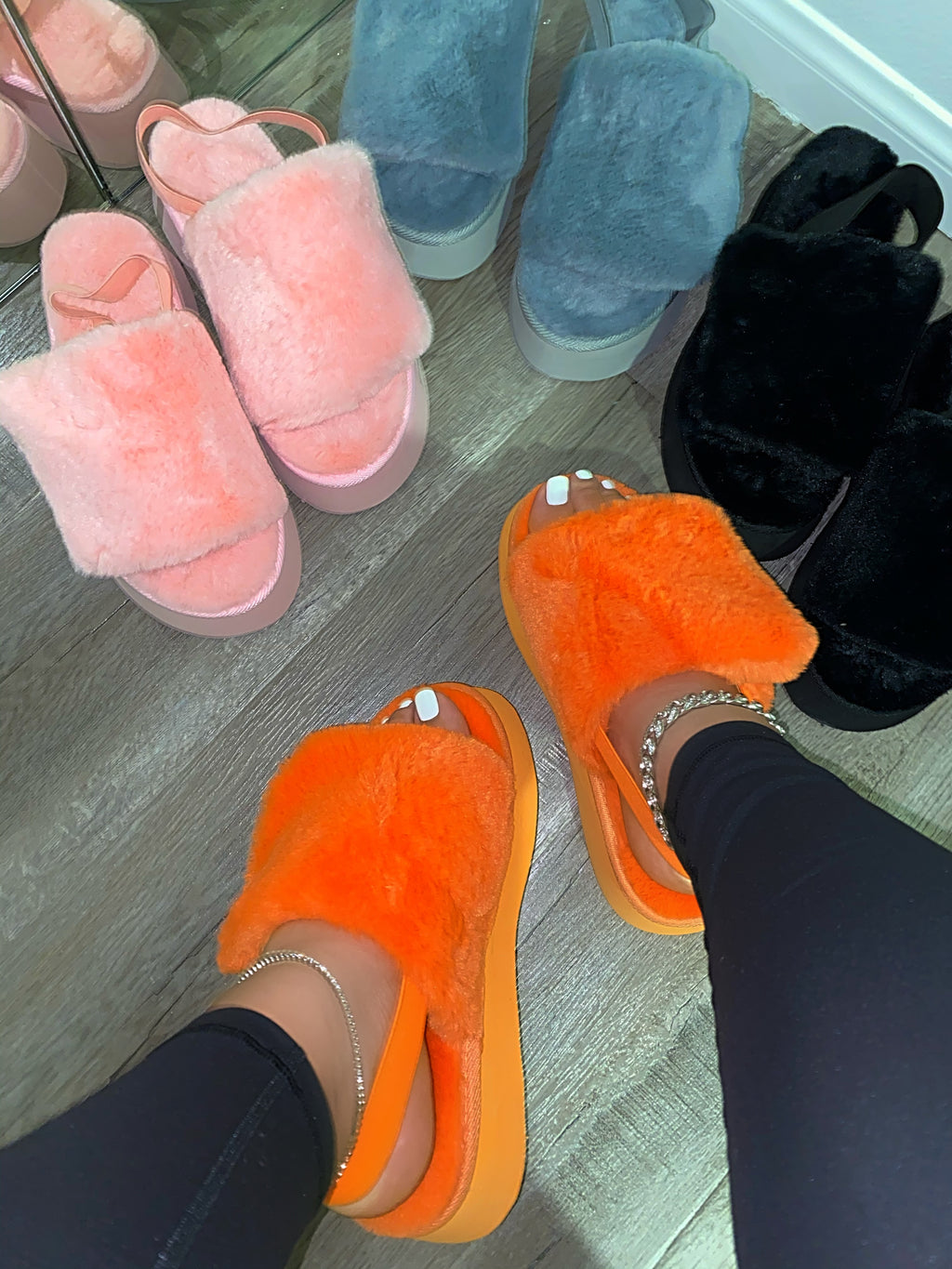 Gate Platform Slippers - Orange
