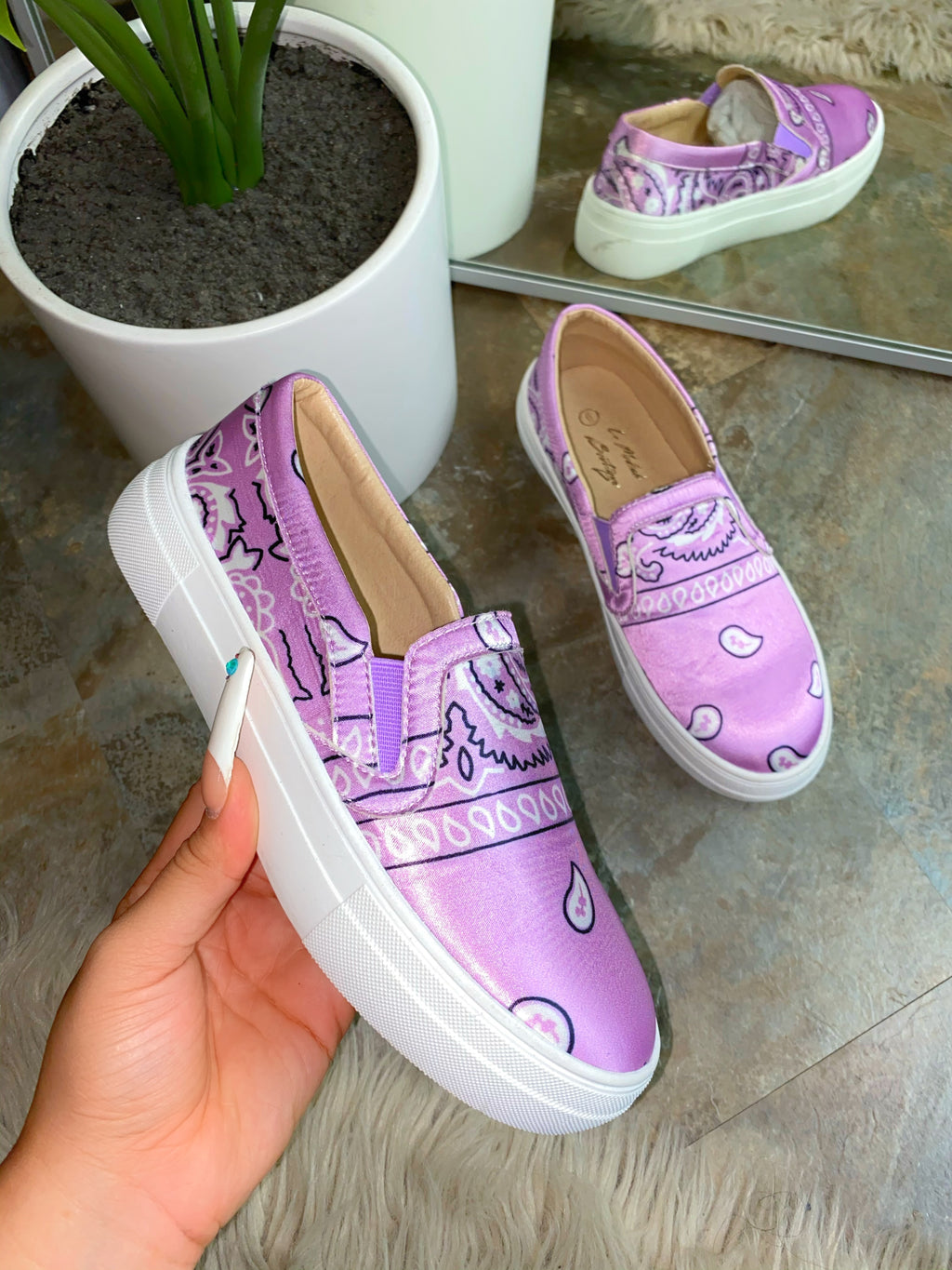 Carter Sneakers -Lavender  EXCLUSIVE