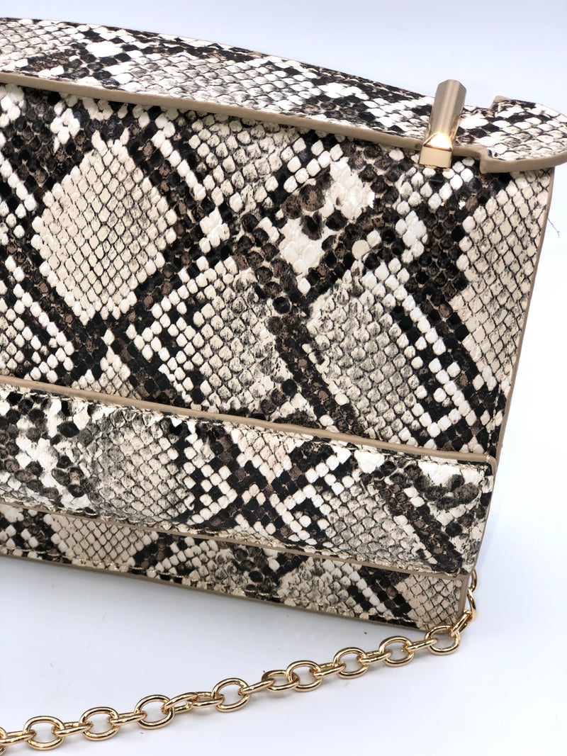 Yasmine Sister Snake Bag - Brown