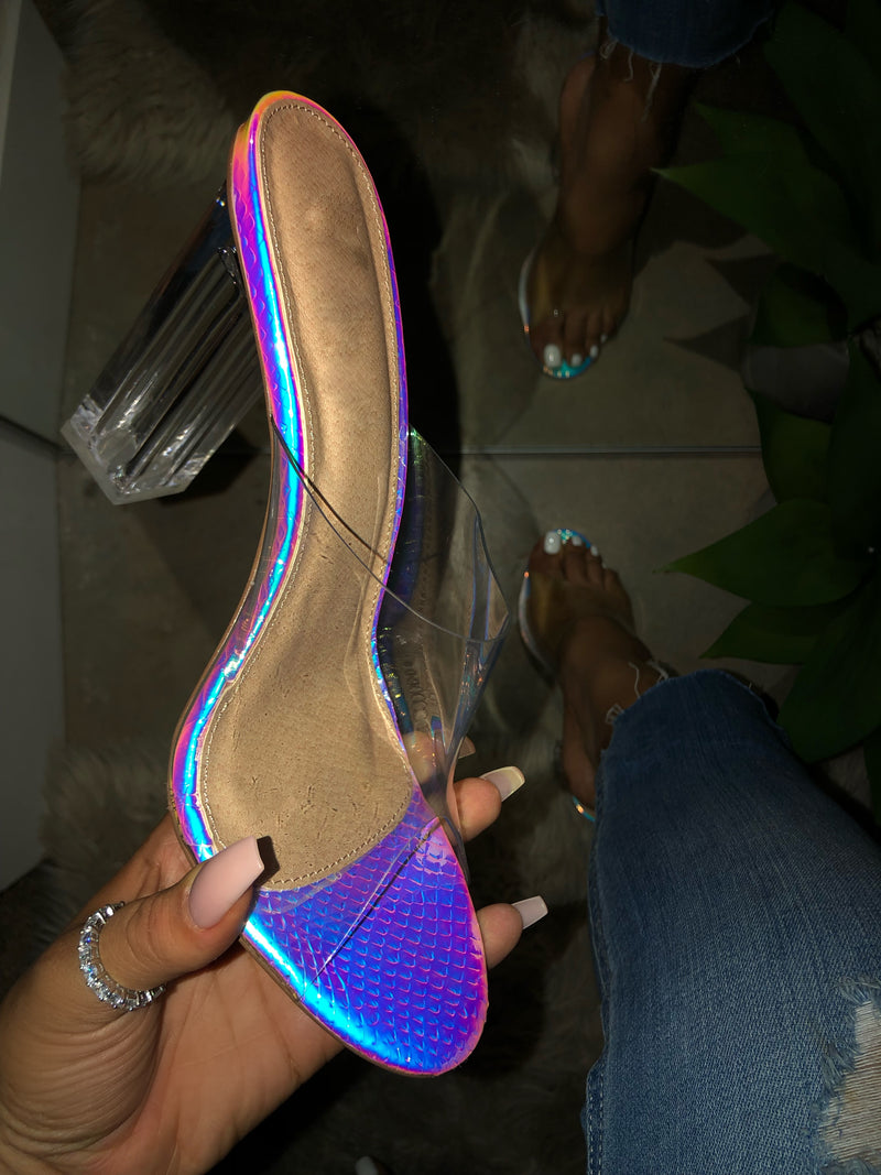 Abigail Heels - Mermaid Holographic