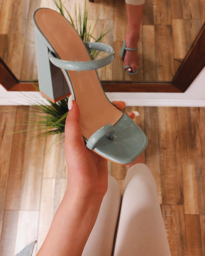 Rubi Toe Ring Chunky Heel - Mint