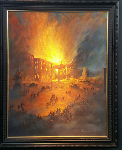 The GPO Burning by Norman Teeling - Green Gallery
