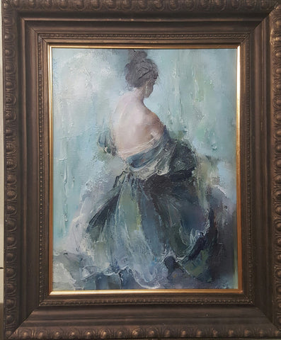 A Lady Dressing - Green Gallery