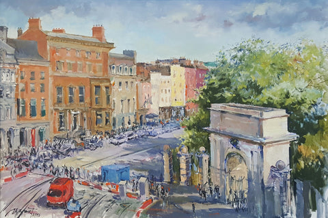 Stephen's Green. Luas Works - Green Gallery