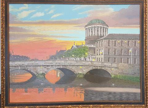 The Four Courts At Sunset