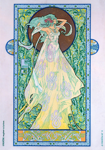 Cruitne, Daughter Of Lochan by Jim FitzPatrick - Green Gallery