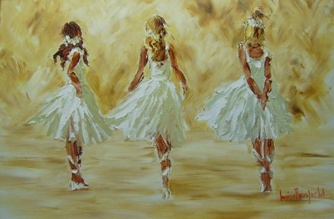 3 White Ballerinas - Green Gallery
