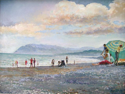 Bathers at Killiney Beach by Tetyana Tsaryk - Green Gallery