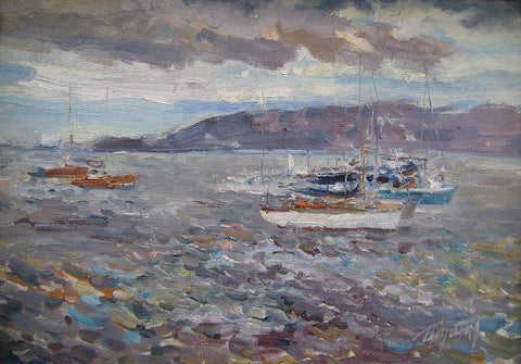 Boats at Clontarf by Tetyana Tsaryk - Green Gallery