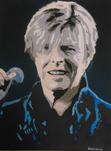 'Bowie Smile' by Brendan Higgins - Green Gallery