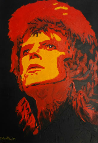 'Orange Ziggy' by Brendan Higgins - Green Gallery