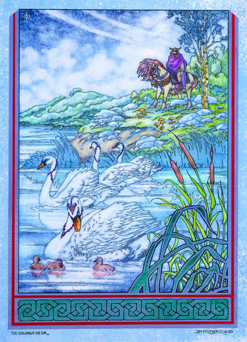 The Children Of Lir. King Lir. 1983 by Jim FitzPatrick - Green Gallery