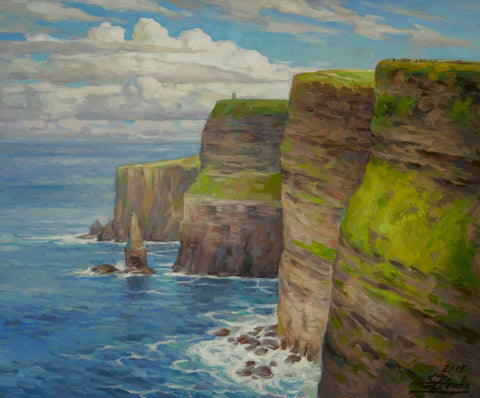 The Cliffs of Moher II - Green Gallery