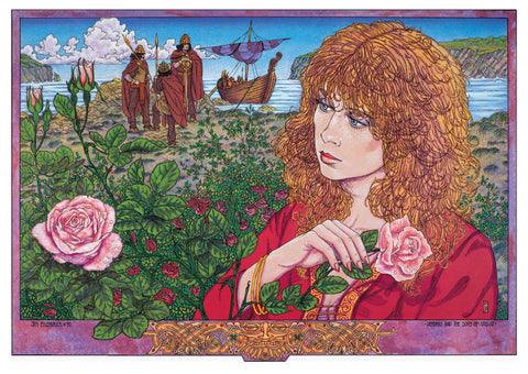 Derdriu And The Sons Of Uisliu by Jim FitzPatrick - Green Gallery