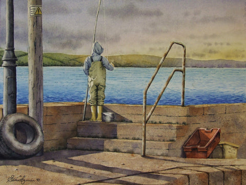 'Evening Fishing' - Green Gallery