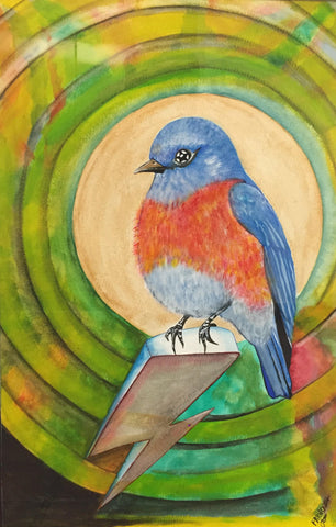 'Free Bluebird' by Farnoosh Rahimi - Green Gallery