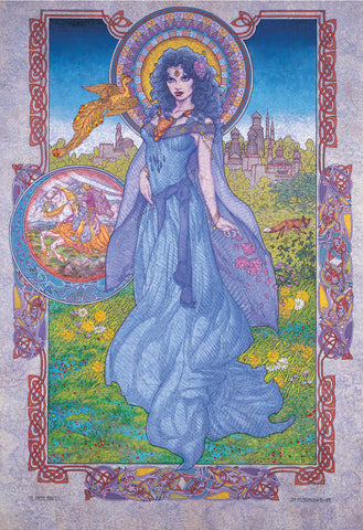 The Greek Princess by Jim FitzPatrick - Green Gallery
