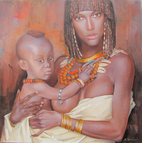 African Mother And Child by Andrius Kovelinas - Green Gallery