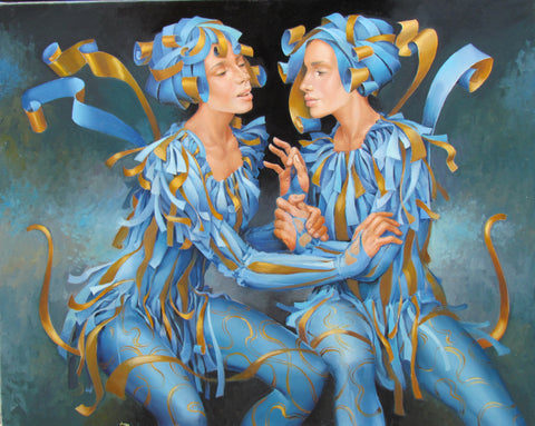 Me And You In Blue by Andrius Kovelinas - Green Gallery