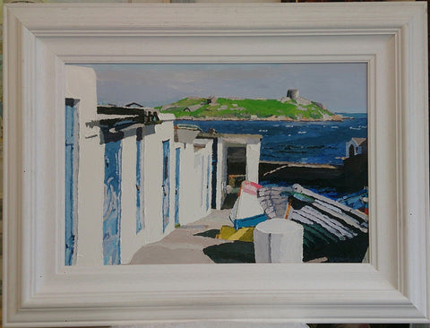 Coliemore Harbour, Summer - Green Gallery